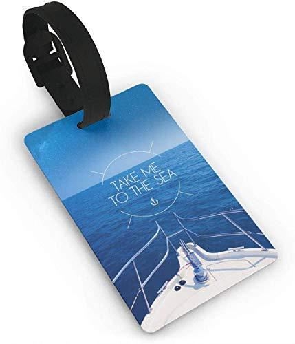Llévame a The Sea Landing Etiquetas de Equipaje Etiquetas de Equipaje de Maleta Accesorios de Viaje Etiquetas de Nombre de Equipaje