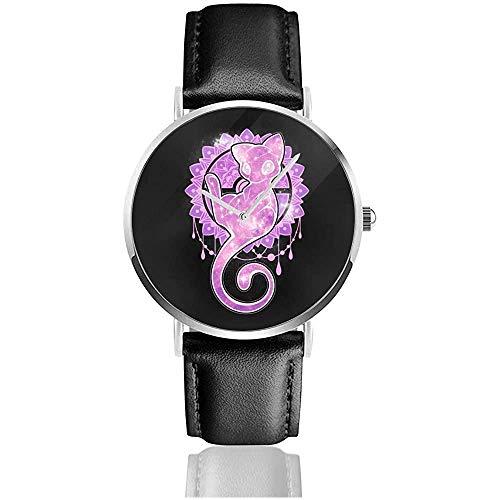 Business Casual Monster der Tasche Sternenhimmel von Creaton Mew Uhren Quarz Lederuhr