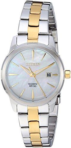 Citizen Damen-Armbanduhr, Quarz, Edelstahl, lässig, Farbe: zweifarbig (Modell: EU6074-51D)