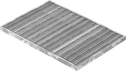Fenau | Gitterrost/Baunorm-Rost Maße: 340 x 490 x 20 mm - MW: 30 mm / 10 mm (Vollbad-Feuerverzinkt) (Passend für Zarge: Fenau 350 x 500 x 23 mm) Industrie-Norm-Rost für Lichtschacht
