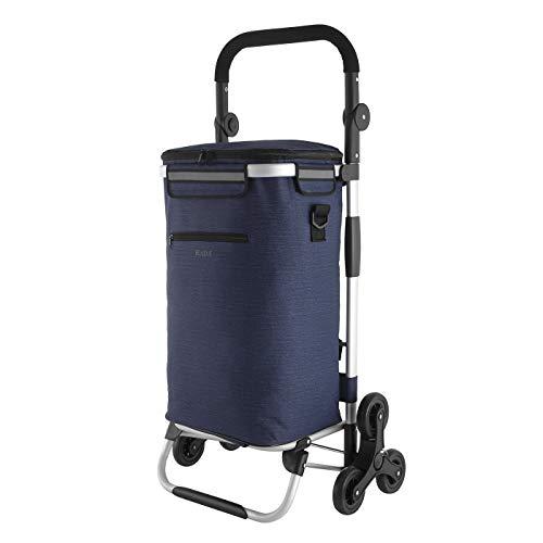 RADA Einkaufstrolley ER/10 Treppensteiger   praktischer Einkaufstrolley für Jung & Alt   mit integrierter Kühltasche   einfach aufzubauen   aus strapazierfähigem Polyester (Dark Blue)