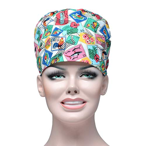 Tendycoco Chirurgische muts voor zustermoeders, bedrukt, chirurgisch, voor dieren, absorbeert zweet