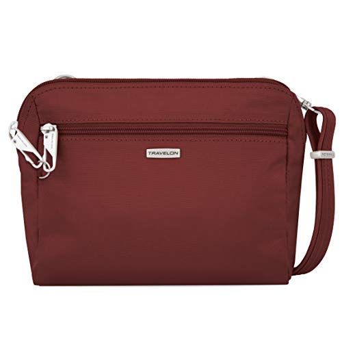 Travelon Women's Classic Convertible Crossbody and Waist Pack Cross Body Bag, Wine, One Size