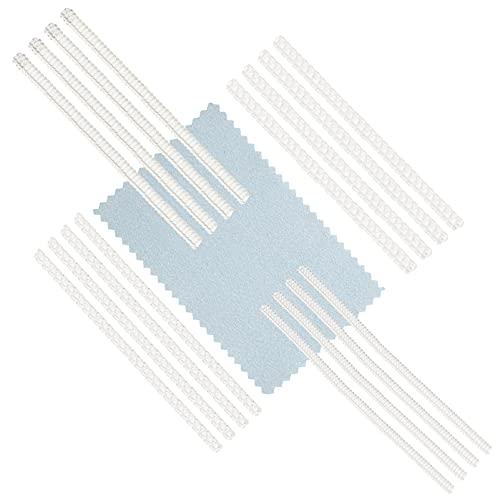 WINOMO 16 Sztuk Pierścień Rozmiar Regulator Z Wytrzeć Szmatką Z Tworzywa Sztucznego Luźny Pierścień Rozmiarówki Biżuteria Rozmiarówki Do Wyrobu Biżuterii Osłona Spacer Sizer Instalatora