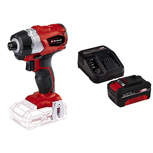 Einhell TE-CI 18 Li Solo Power X-Change Cordless Brushless Impact Driver with Original Einhell 18 V 4.0 Ah Power X-Change Starter Kit