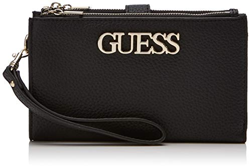 Guess Uptown Chic SLG Dbl Zip Orgnzr, Cartera. para Mujer, Negro (Nero), 18.5x11x2 Centimeters (W x H x L)