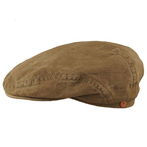 Mayser® Flatcap Khaki Optik Cap Golfcap Mütze Flache Mütze Schiebermütze 58