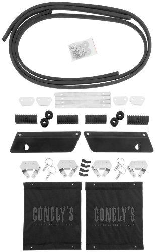 New Conelys Saddlebag Black Hardware & Latch Kits - One Size