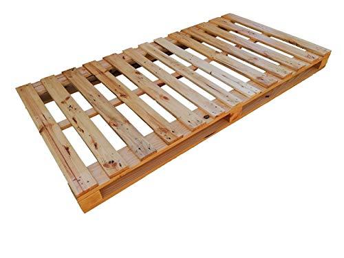 Cama de palets color madera Barnizada para colchón de 105 x 180, 190, 200 - Somier & Somieres & Base & estructuras de camas con pallet pallets pales