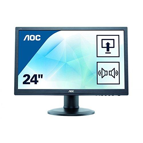 AOC e2460Pxda 61,1 cm (24,1 Zoll) Monitor (DVI, 5ms Reaktionszeit, 16:10, 1920 x 1200) schwarz