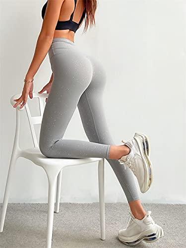 bayrick Leggings Push Up Mujer Mallas,Pantalones de Yoga Desnudos de Alta Gama con Lentejuelas Femeninas Pantalones de Secado rápido.-mi_Metro