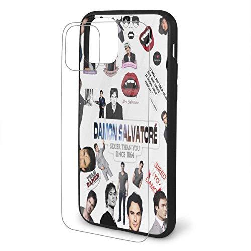 Tceeldv Fashion Damon Salvatore Cases Cover for iPhone 11/Pro/Pro Max Black
