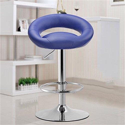 Tabouret en bois Bar tabouret bar chaise réception caissier haute tabouret mode simple style européen pivotant tabouret de bar/rose, violet (Couleur : Rose)