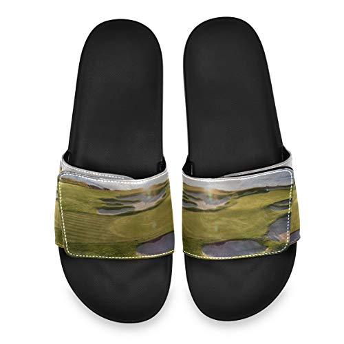 ZANSENG Sportlich verstellbare Slide-Sandalen für Herren mit leichtem Komfort-Slip auf Sportpantoffeln, 11. Februar 2019 Pebble Beach Golfsandalen für Herren