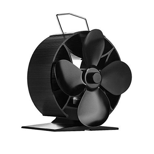 Hitze Powered ofenventilatoren 4-flügelig Kaminofen Fan New Design Herd Top Fan für Holz/LOG Brenner/Kamin