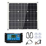 UANG 200 Watt 200W Solar Panel Kit with LCD Solar Controller 12V RV Boat Off Grid