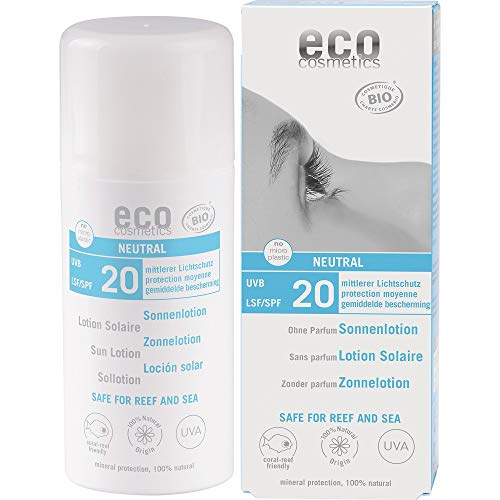 eco cosmetics Bio Sonnenlotion LSF 20 neutral ohne Parfum (2 x 100 ml)