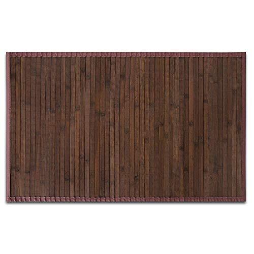 casa pura Stuoia Bambu Ecologica e Multiuso - Tappeti Cucina Lunghi, Grandi e Piccoli | 2 Colori Selezionati | Marrone - 200 x 300 cm