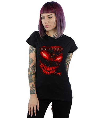 Disturbed Damen Splat Face T-Shirt Schwarz Medium
