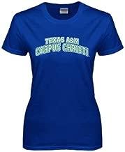 CollegeFanGear Texas A&M Corpus Christi Ladies Royal T Shirt 'Arched Texas A&M Corpus Christi'