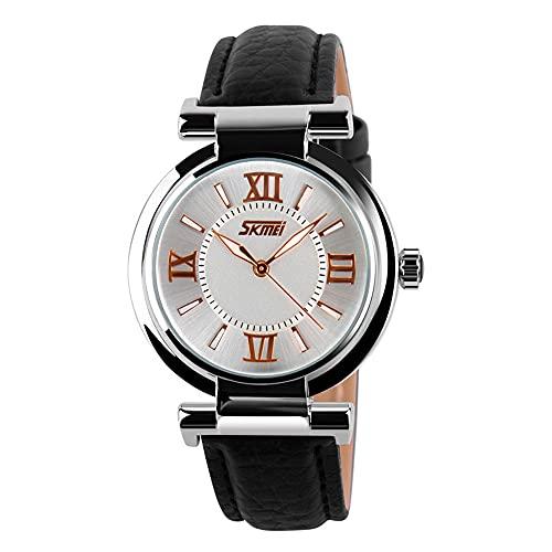 KLFJFD Reloj De Cuarzo Resistente Al Agua con Números Romanos Luminosos Y Sencillos A La Moda para Mujer, Reloj De Moda Informal Creativo para Regalo