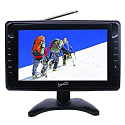 """professional SuperSonic SC-281010 """"Portable AC / DC LCD Digital TV: Built-in USB and SD Card Reader 