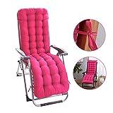 Fordecore Patio Chaise Lounger Cushion, 61Inch Thickened Chaise Longue Cushion Recliner Cushions Rocking Chair Cushion Sofa Cushion Tatami Mat Window Mat Seat Cushion (Rosy)