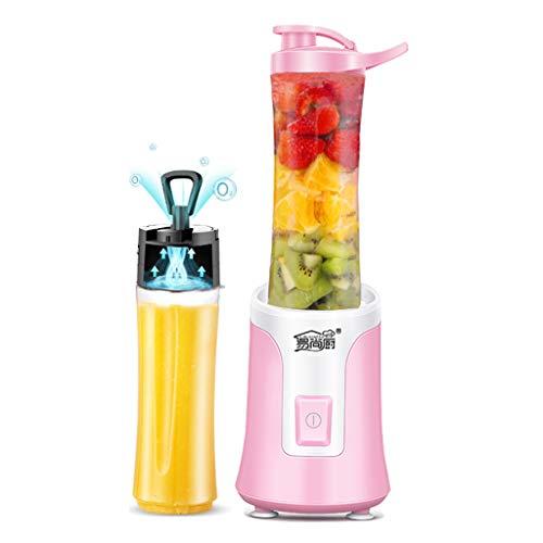 Creative Light- Presse-agrumes portable, presse-agrumes multifonctions, mini-presse à jus, tasse à vide, sans perte de nutrition (Couleur : Pink, taille : Double cup)