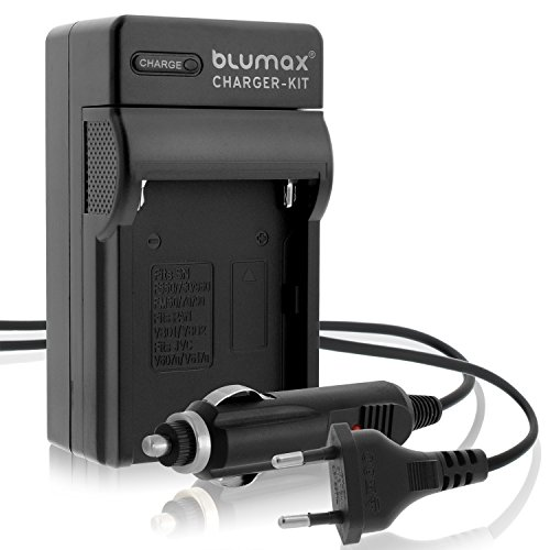Blumax NP-FM-500H Ladegerät | passend zu Sony Alpha A57 A58 A65 A65V A68 A77 A77V A99 A99 II UVM