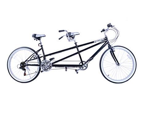 MAQRLT Bici en tándem, Ciudad de Bicicletas para Adultos, Entre Padres e Hijos par Que Monta Entretenimiento Universal Wayfarer Mountain Riding, Negro