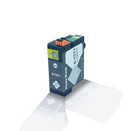 Kompatible Tintenpatrone Photo Black für Epson Stylus Photo R3000 R 3000 Black Noir T1571 T 1571 C13T15714010 - Eco Office Serie