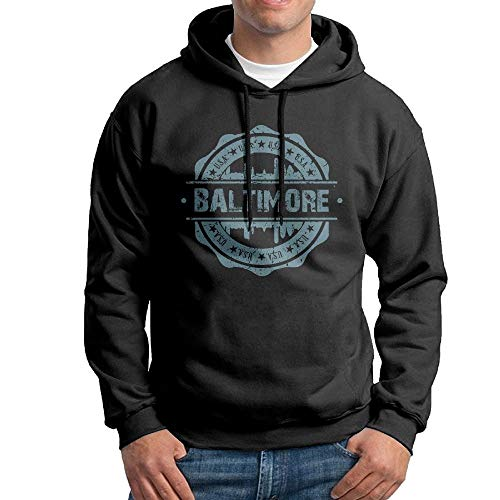 SDFGSE Men's Baltimore Maryland Hoodies Hooded Sweatshirt Pullover Sweater, Novelty Hooded Sportswear XXL