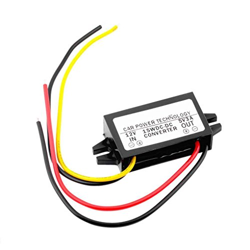 Guangcailun DC CPT-UL-1 DC/regulador 12V a Led Display Power CPT-UL-1 5V 3A 15W de Potencia vehicular Coche llevó Display Power