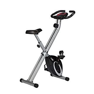 Ultrasport Unisex F-Bike Advanced, pantalla LCD, entrenador casero plegable, niveles de resistencia ajustables, con sensores de pulso de mano, entrenador de bicicleta plegable, para atletas y mayores (B003FSTA0U) | Amazon price tracker / tracking, Amazon price history charts, Amazon price watches, Amazon price drop alerts