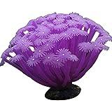 PPCLU Adornos de Coral de anémona de mar Artificial 15 * 10 cm para la decoración del Acuario del Tanque de Peces (Color : 2, Size : One Size)