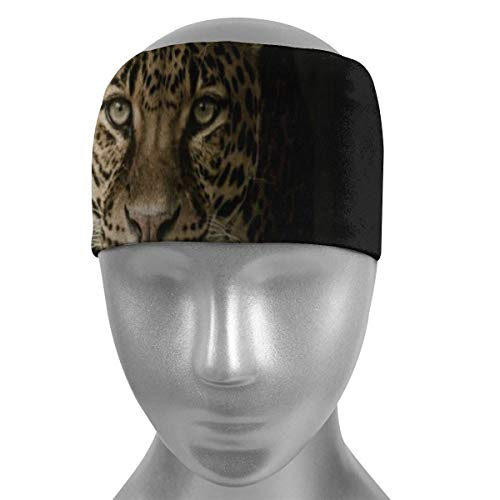 ZWHSY Venda Wild Leopard Tiger Soft Sports Headbands,Wicking Stretchy Quick Dry Breathable Sweatband,Non Slip Absorbing Moisture Elastic Head Band for Men Women