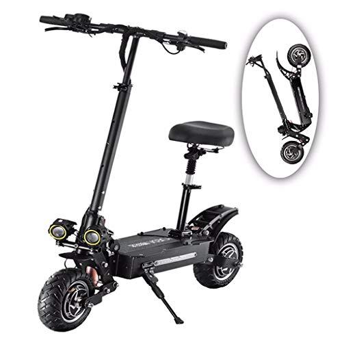 ZHHL Electric Scooter Adultos, Plegable Patinete Eléctrico, 5400w Motor Dual, Velocidad Máx...