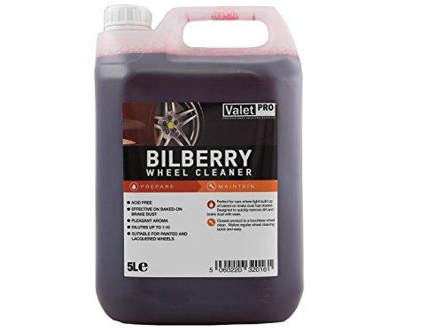 ValetPRO Bilberry Wheel Cleaner 5L / Felgenreiner / Entfernt Schmutz aus Metall / PH Neutrall / beschädigt nicht die lackierten Oberflächen / für gemalten und lackierten Felgen / Made in UK