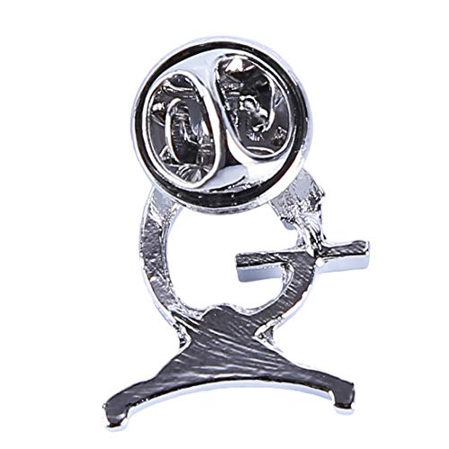 UINKE Fashion Plated Microscope Brooch Badge Lapel Pin Nurse Doctor Gift for Thanksgiving Day,Silver