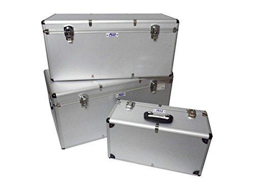 Alukisten Set 3tlg. Boxenset 155 Liter silber - 64000