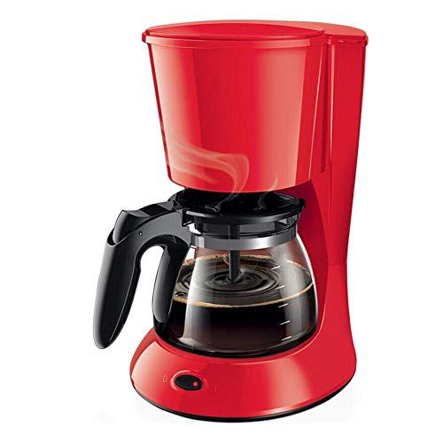HaoLi Cafetière Machines Bureau Commercial Ménage Cafetière Automatique Électrique Mini Machine À Café Drip-Rouge