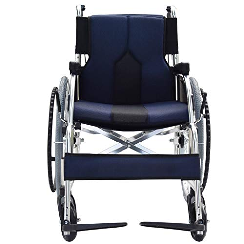 Changde Wheelchair Light Folding Medical Home Aged Care car Scooter Walking aid Solid tire (Color : C)
