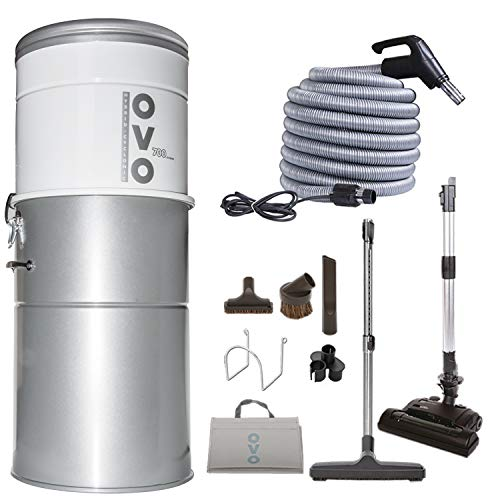 OVO Heavy Duty Powerful Central Vacuum System, Hybrid Filtration (With or Without disposable bags)...