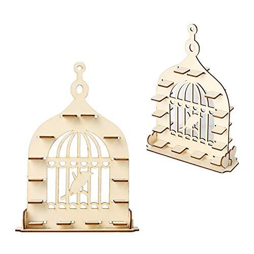 Fautly Soporte de madera para exhibir chocolate, jaula de pájaros en forma de jaula para chocolate, postres, dulces, decoración de boda, hogar, manualidades, centro de mesa