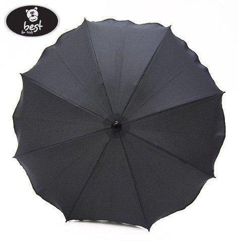Best For Kids Universal Kinderwagenschirm NEUSTE TECHNIK Höchster UV Schutz Standard 801 - Sonnenschirm und Regenschirm für Kinderwagen, biegsam und einklappbar, 15 Farben zur Auswahl (Dunkelgrau)