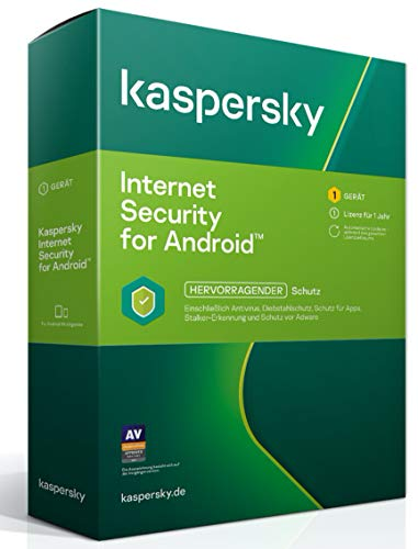 Kaspersky Internet Security for Android 2021 Standard | 1 Gerät | 1 Jahr | Android | Aktivierungscode in Standardverpackung
