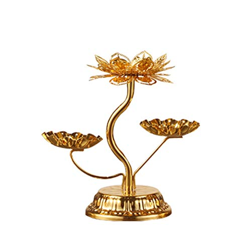 Objets De Décoration, Alliage De Siège Longue Lampe Brillante pour Lampe Bougie Lampe Lotus Stand Huit Bougeoir PAS Cher