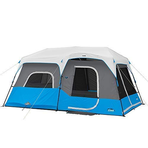 Core 6 Person / 9 Person / 10 Person / 12 Person Lighted Instant Cabin Tents (9 Person)