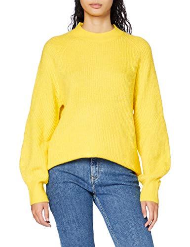 Tommy Jeans Tjw Lofty Yarn Crew Neck Sweater Maglione, Star Fruit Yellow, M Donna