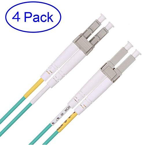 [4 Stuks] LC-LC Glasvezel Patchkabel 3m, OM3-kabels Multimode LC Duplex 50/125 Fibre Patch Kabel voor 10Gb/1G SFP-transceiver, Mediaconverter - ipolex